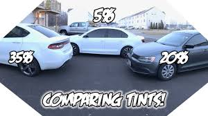 Window Tint Shades Chart 35 Vs 20 Vs 5 Window Tint What Tint Is Best For You