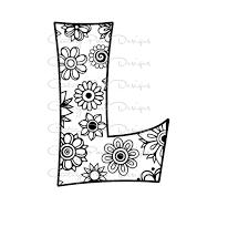 Letter L Alphabet Flowers Svg Jpeg Png Pdf Use With