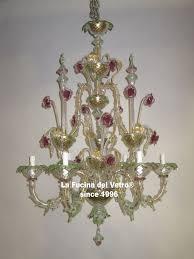 Lampadario Murano Rosa : Lampadari classici di murano vendita on line