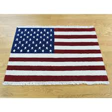 2 6 x4 pure wool hand knotted american flag oriental rug g36655