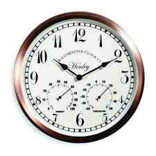 outdoor garden clocks garden clocks garden wall clock thermometer copper effect outdoor garden clocks outdoor garden