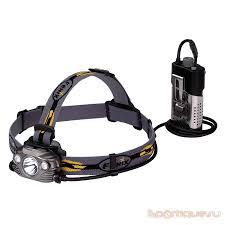 Налобный <b>фонарь Fenix HP30R Cree</b> XM-L2, XP-G2 (R5) серый