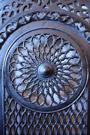 Amazing Antique Cast Iron Arched Summer Cover Early 1900 S For