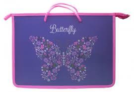 <b>Silwerhof</b> Папка для <b>тетрадей</b> Бабочки и <b>цветы</b> A4 (1 отделение ...