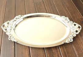 Decorative Metal Serving Trays Decorative Serving Trays Incredible Metal Tray Nickel Plated 7