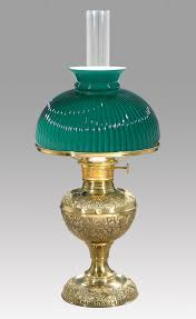 69044d early style embossed brass lamp