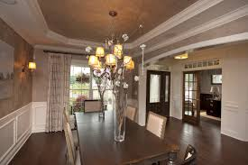 Charming Design Tray Ceiling Ideas Features Brown Color Octagon