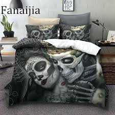 bedding sugar skull bedding sets king beauty kiss skull duvet cover bed set bohemian print