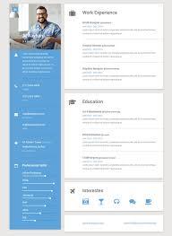 Interactive Resume Template Adorable Interactive Resume Template 48 Best Resume Cv Vcard Templates