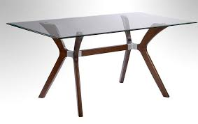 dark walnut dining table with tempered rectangular glass top new in rectangle glass table top