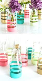 Decorating Ideas For Glass Jars Decorated Glass Bottles Home Design Plan 96