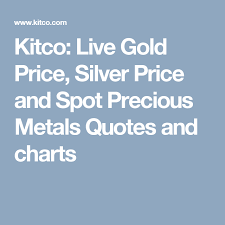 Kitco Iron Ore Price Charts Kitco Live Gold Price Silver Price And Spot Precious