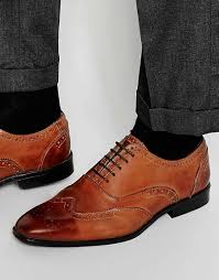 high quality asos oxford brogue shoes brown polish leather men 0066 fascinating