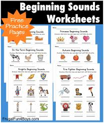 These beginning sound worksheets are just for exposure and her enjoyment {and to sneak in some letter sound review}. Printable Beginning Sounds Phonics Worksheets Frugal Fun For Boys And Girls