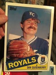 Size Of A Baseball Card Details About Dan Quisenberry Topps Large Size Baseball Card From 1985