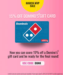expired swych save 15 on domino s gift card with promo code dunk expires 4 6 19 gc galore