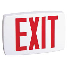 Lithonia Lighting Exit Signs Lithonia Lighting Plastic White Led Emergency Exit Sign With Battery