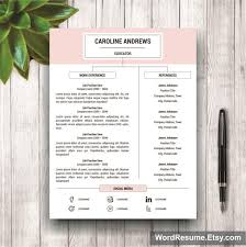 create a modern resume template with word