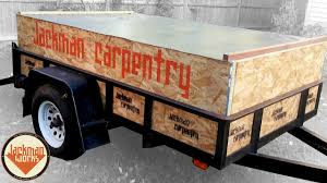 customized utility trailer sides and cover