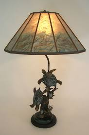 t228 bronze turtle sculpture table lamp mica lamp shade with sea turtle drawings