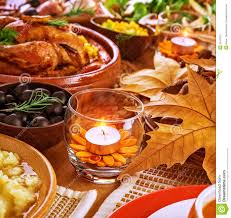 Autumn Dinner Menus Thanksgiving Table Decoration Stock Image Image Of Baked Cooked