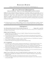 Resume Templates Hospital Quality Director Examples Control Manager