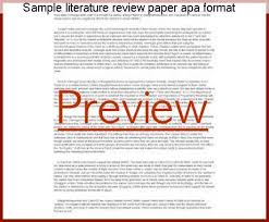 format of an apa paper sample literature review paper apa format essay academic service