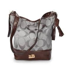 Coach Legacy Duffle In Printed Signature Medium Grey Crossbody B