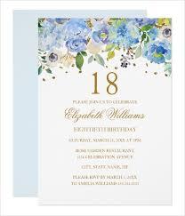 14 18th Birthday Invitation Designs Templates Psd Ai