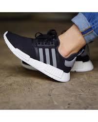 adidas nmd r1 womens. adidas nmd r1 black mesh sneakers (women\u0027s 6.5) nmd womens