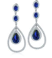 blue sapphire chandelier earrings