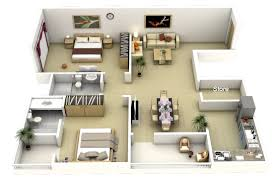 apartments design plans. 40-Large-2-Bedroom-Apartment-Plan Apartments Design Plans S