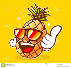 pineapple with sunglasses clipart. royalty-free vector. download vector illustration of colorful hipster pineapple sunglasses with clipart d
