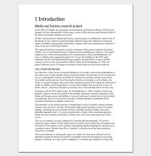 Literature Review Outline Template 20 Formats Examples Samples