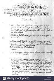 diploma of karl marx karl marx haus stock photo  diploma of karl marx 1835 karl marx haus