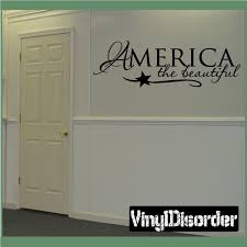 america the beautiful patriotic 4th of july holiday vinyl wall decal mural quotes words hd012 on patriotic vinyl wall art with the 14 best vinyl tiles images on pinterest vinyl tiles bespoke