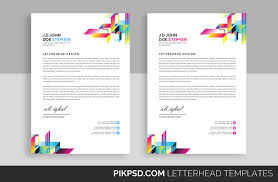 Professional Stationery Template Line Business Letterhead Template Stationery Templates Creative