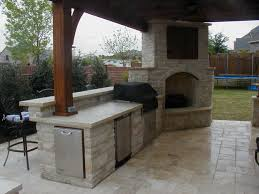 Outside Kitchens Outdoor Kitchens With Roof And Fireplaces Creative Fireplaces
