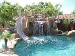 backyard pools with waterfalls and slide.  Waterfalls Pools With Waterfalls Design Ideas Backyard Pool In Ground  Slide With Backyard Pools Waterfalls And Slide Pinterest