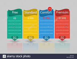 Web Banner Design Price Set Of Offer Tariffs Ui Ux Vector Banner For Web App Set