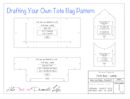 Tote Bag Pattern Impressive Tote Bag Tutorial Part 48 Creating The Pattern The Not So
