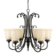 globe electric 65571 beverly 6 light chandelier bronze color oil rubbed finish