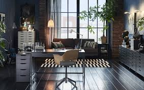 grey home office. Enchanting Ikea Malm White Office Desk A Grey In Layout: Full Home