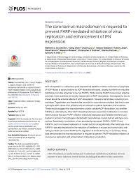 Pdf Parp9 And Parp14 Cross Regulate Macrophage Activation Via Stat1