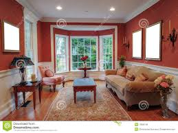 Window For Living Room Living Room Interior With Bay Window Royalty Free Stock Photos