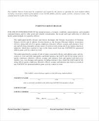 Liability Release Waiver Form Participation Template And Images Of ...