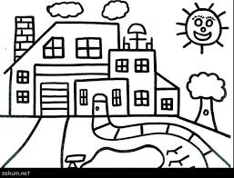 House Coloring Pages Printable Brilliant Design House Coloring Pages