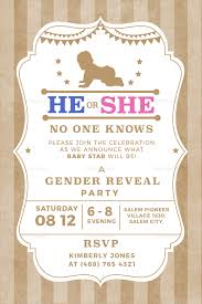 Gender Reveal Invitation Templates Country Gender Reveal Invitation Template