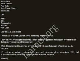 Resignation Letter For Retirement - Rio.ferdinands.co