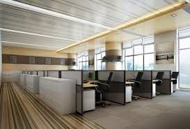 designer office space. Designer Office Space With Personal Booths 3D Model C